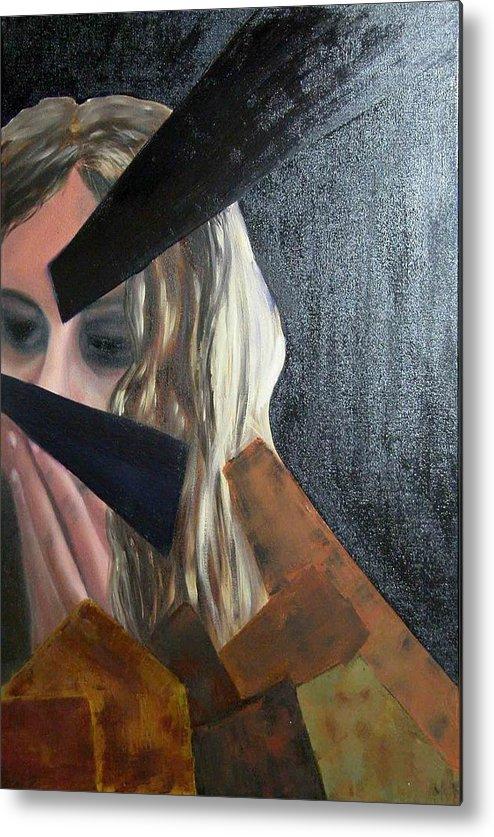 Metal Print featuring the painting singer is sick N4 by Evguenia Men