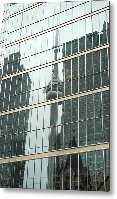 Rcouper Metal Print featuring the photograph Sky Scraper Reflection. by Rick Couper
