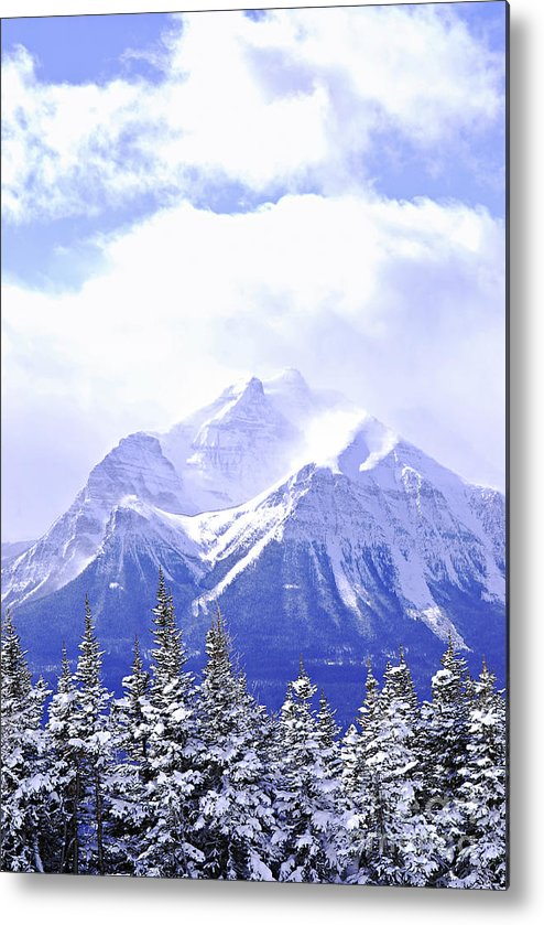 Mountain Metal Print featuring the photograph Snowy Mountain by Elena Elisseeva