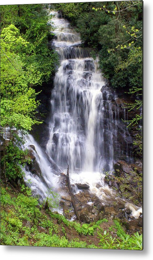 Soco Galls Metal Print featuring the photograph Soco Falls 1 by Marty Koch