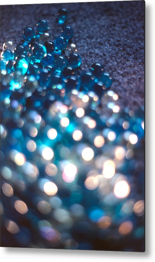 Marbles Metal Print featuring the photograph Spotlighted Marble Abstract 4 by Steve Ohlsen