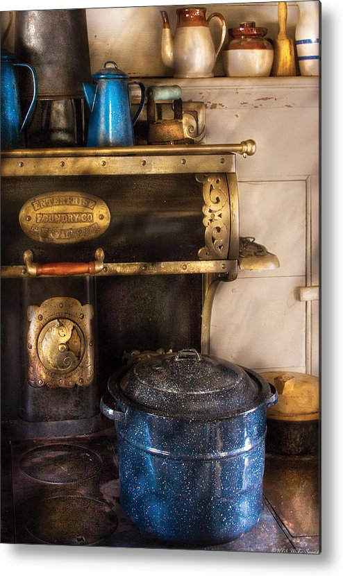 Savad Metal Print featuring the photograph Stove - The Stove by Mike Savad