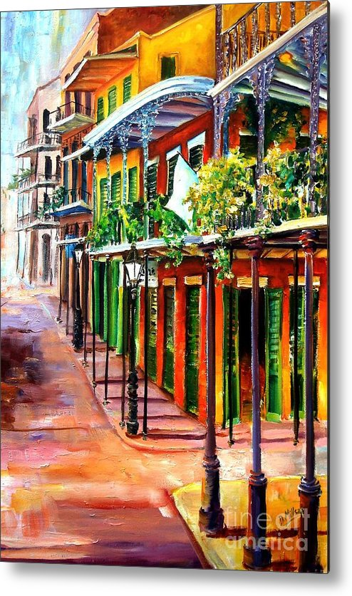 New Orleans Metal Print featuring the painting Sunlit New Orleans by Diane Millsap