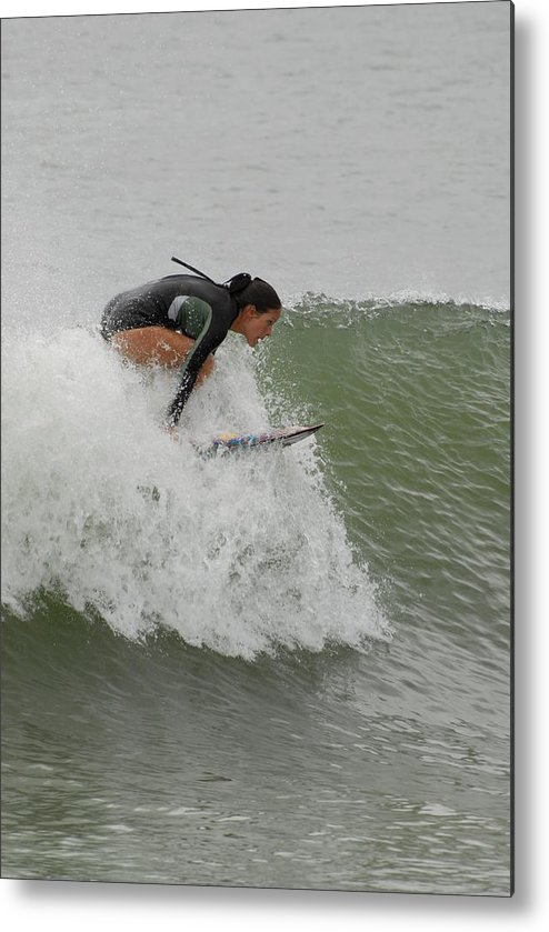 Surfers Metal Print featuring the photograph Surfing 170 by Joyce StJames