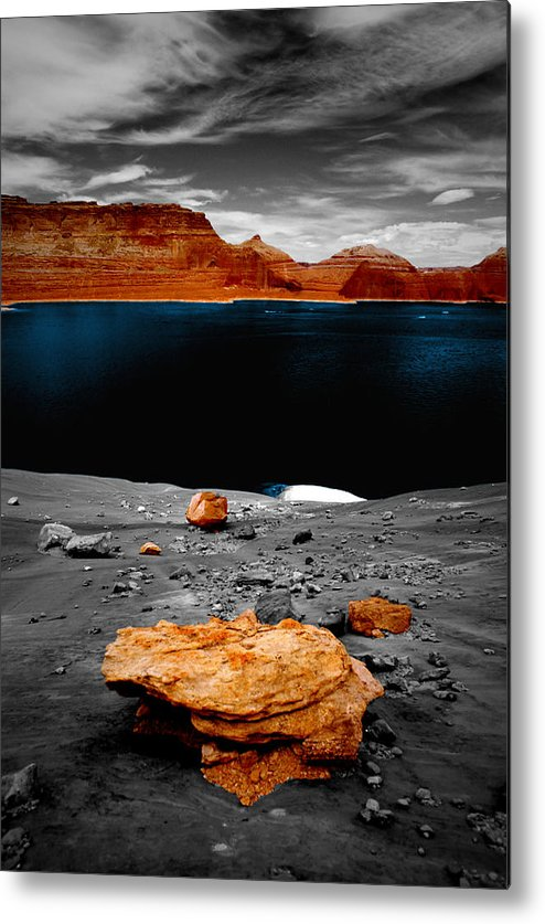 Photography Metal Print featuring the photograph Tabletop Boulder Lake Powell by Tom Fant