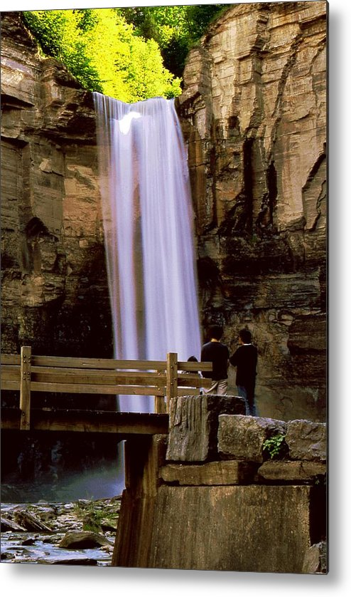 Waterfall Metal Print featuring the photograph Taughannock Falls by Roger Soule