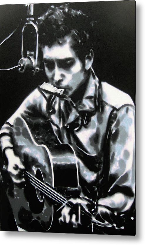 Ludzska Metal Print featuring the painting The Answer My Friend Is Blowin In The Wind by Luis Ludzska