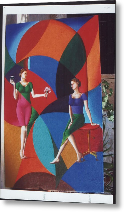 Women Metal Print featuring the painting The Dignity Of Love by Mak Art