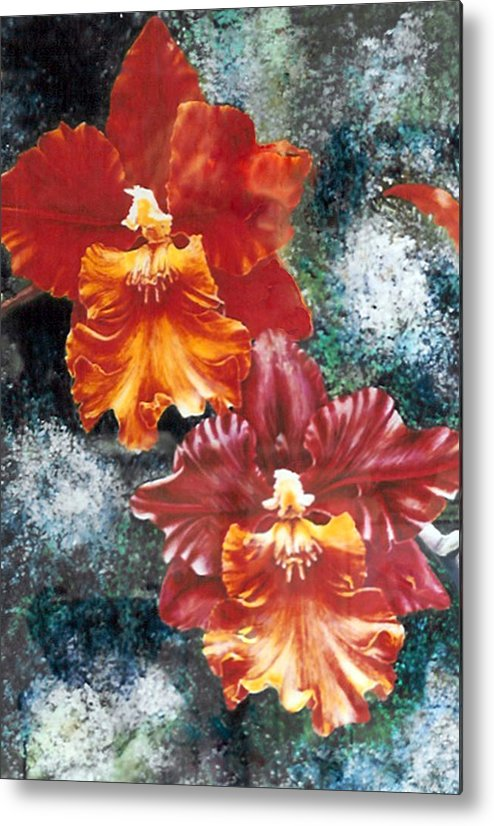 Flowers Metal Print featuring the print Tiger Orchids by JoLyn Holladay