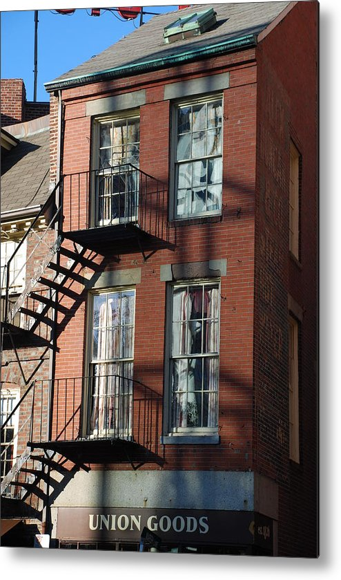 Boston Metal Print featuring the photograph Union Goods by Michael L Gentile