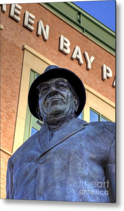 Vince Lombardi Metal Print featuring the photograph Vince Lombardi by Joel Witmeyer