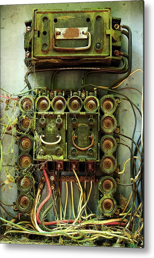 vintage household fuse box metal print by michael eingle rh fineartamerica com vintage fuse box parts vintage fuse box for sale
