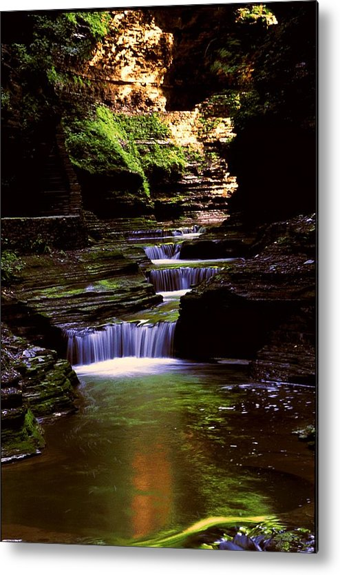 Gorge Metal Print featuring the photograph Watkins Glen Gorge In Summer by Roger Soule