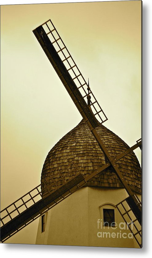 Windmill Metal Print featuring the photograph Windmills Of Your Mind by Lori Leigh