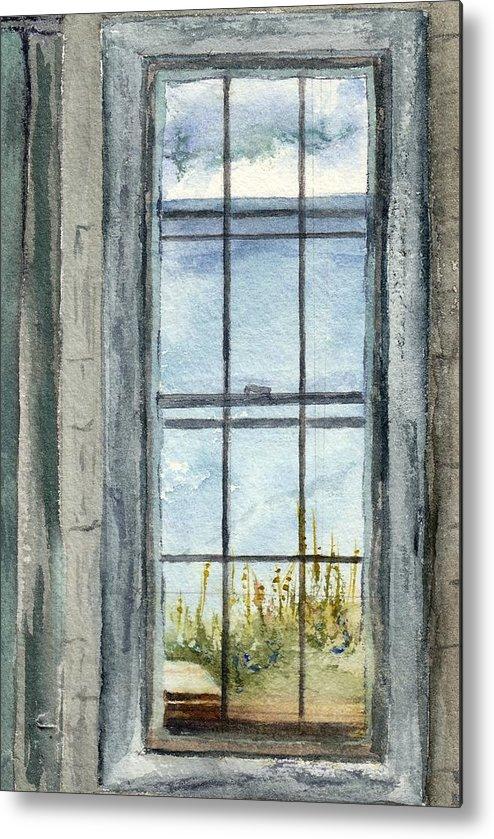Window Metal Print featuring the painting Window by Lisa Thomson Goundie