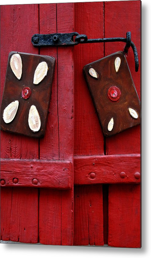 Window Shutters Metal Print featuring the photograph Window Shutters by Robert Lacy