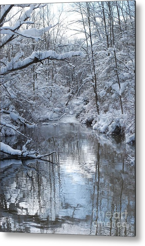 Winter Metal Print featuring the photograph Winter Stream by Lila Fisher-Wenzel