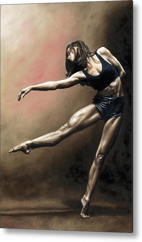 Dancer Metal Print featuring the painting With Strength And Grace by Richard Young