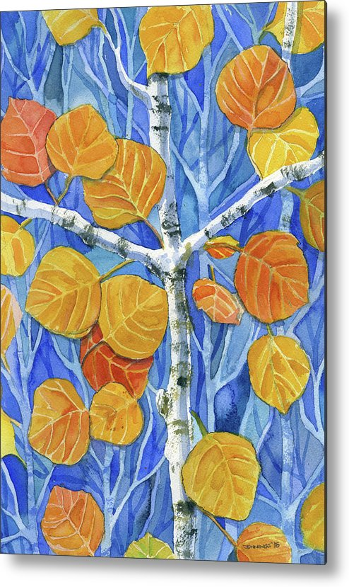 Aspen Metal Print featuring the painting Witness Of Creation by Mark Jennings