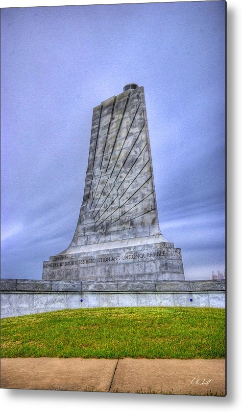 Monuments Metal Print featuring the photograph Wright Brothers Memorial by E R Smith