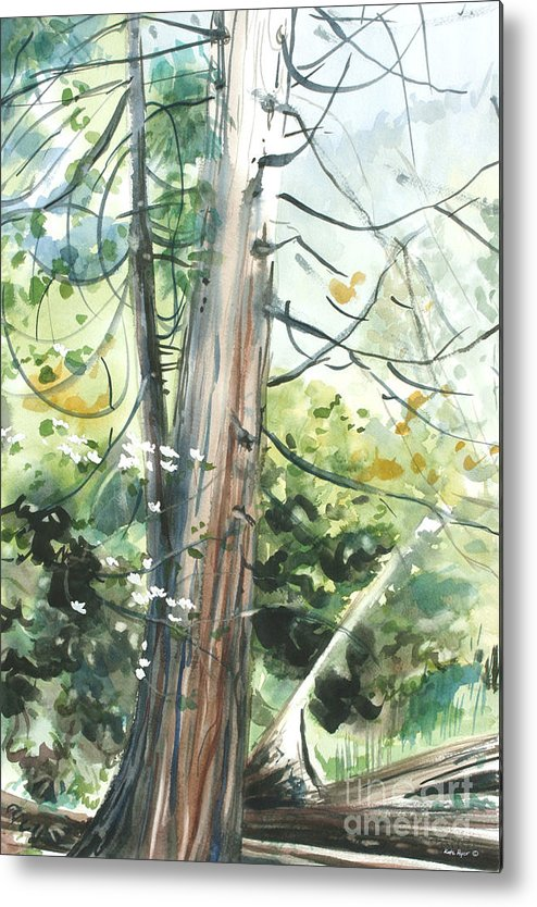 Spring Metal Print featuring the painting Yosemite Spring by Kate Peper
