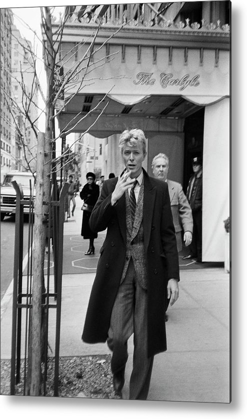 1980-1989 Metal Print featuring the photograph David Bowie by Art Zelin
