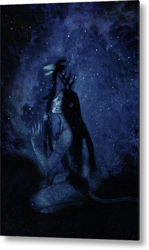 Surreal Metal Print featuring the digital art Heartbeat Of The Earth by Cambion Art