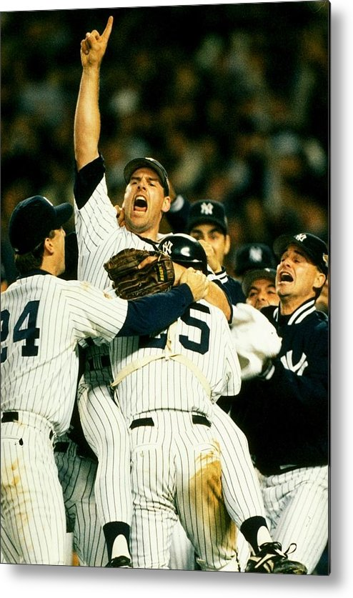 Celebration Metal Print featuring the photograph John Wetteland by Doug Pensinger
