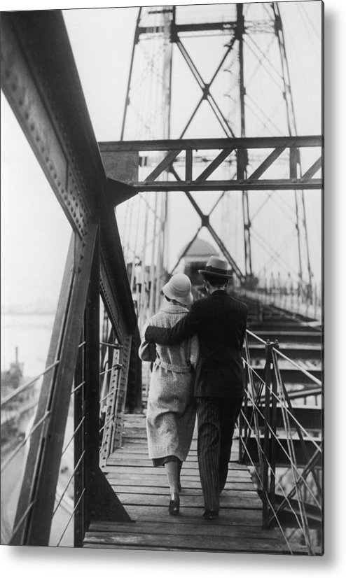 Heterosexual Couple Metal Print featuring the photograph Strolling Couple by Fpg