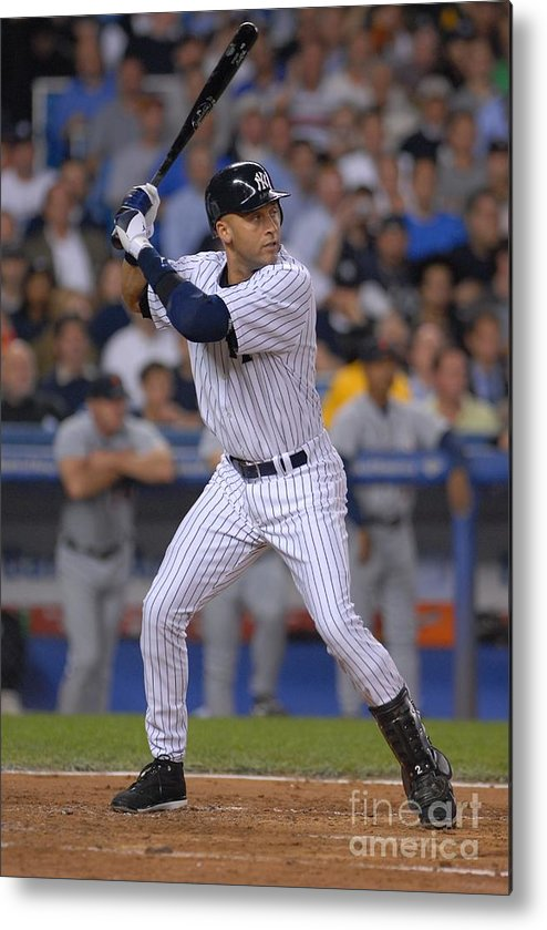 People Metal Print featuring the photograph Derek Jeter by Mark Cunningham