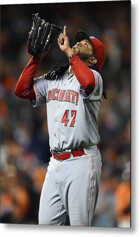 San Francisco Metal Print featuring the photograph Johnny Cueto by Thearon W. Henderson