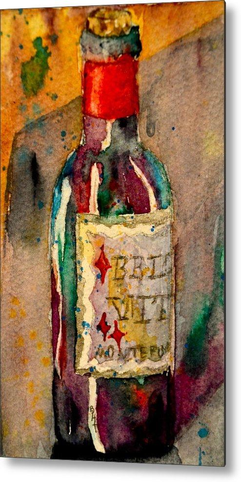 Wine Metal Print featuring the painting Bella Vita by Beverley Harper Tinsley