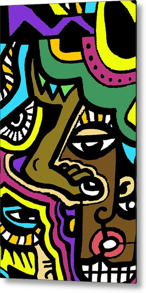 Eyeart Metal Print featuring the digital art Eye Run This by Kamoni Khem