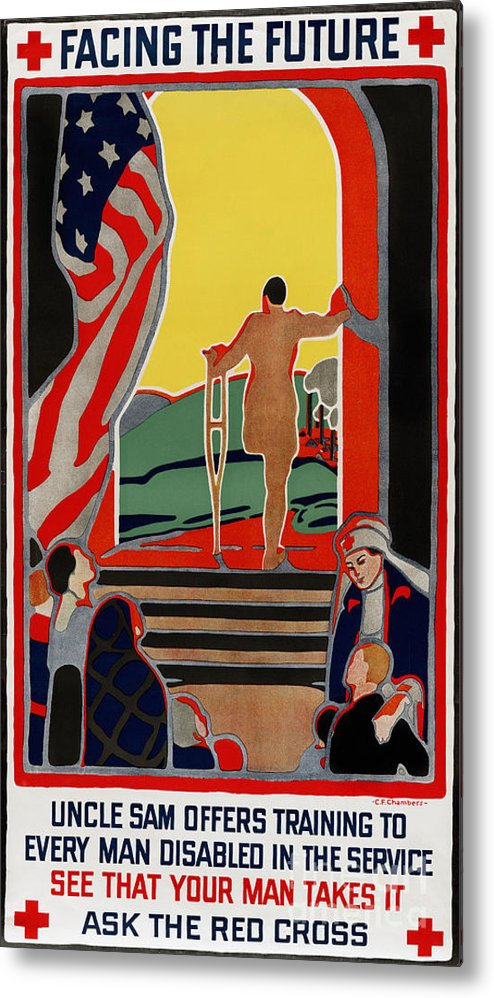 1919 Metal Print featuring the photograph Red Cross Poster, 1919 by Granger