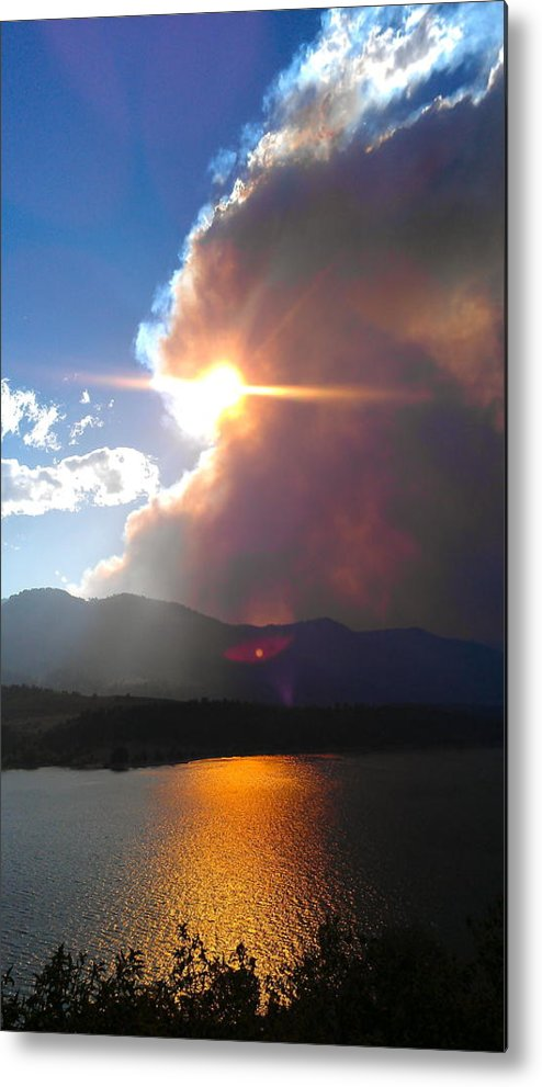 Lake Metal Print featuring the photograph Tempestuous. by Leslizabeth O