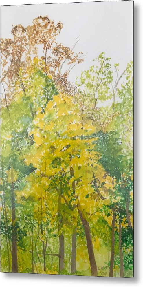 Autumn Metal Print featuring the painting Backyard by Leah Tomaino