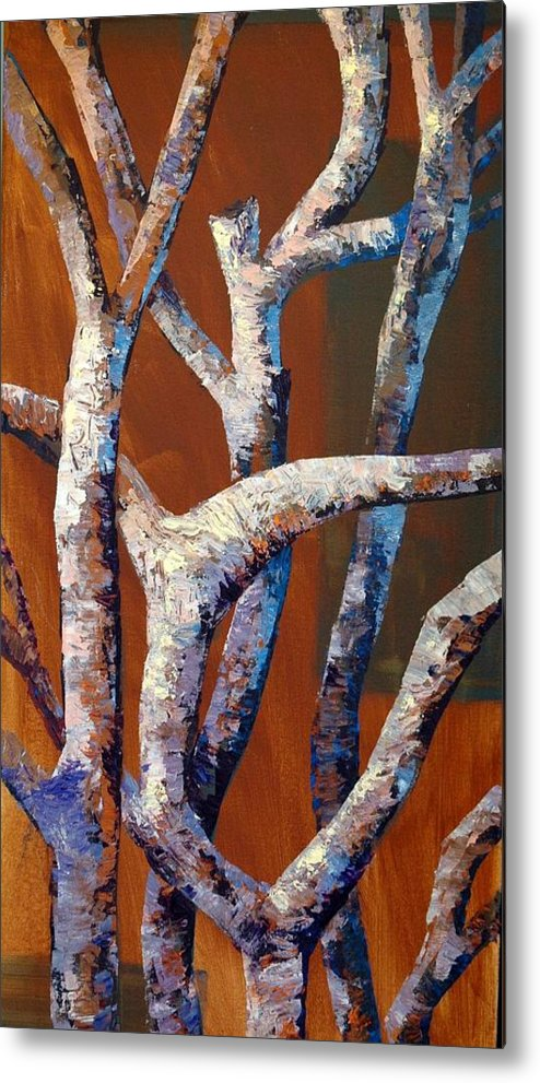Acrylic Metal Print featuring the painting Branches by Cathy Fuchs-Holman