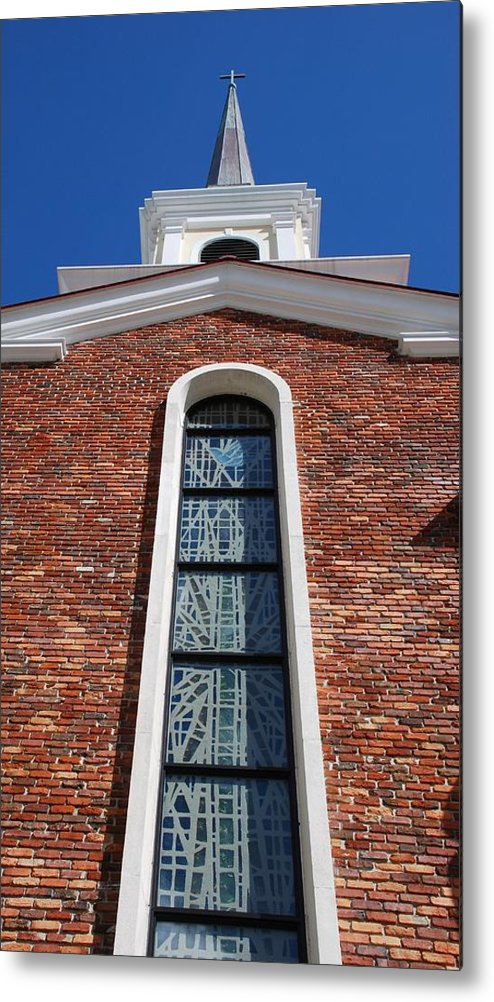 Architecture Metal Print featuring the photograph Brick Church by Rob Hans