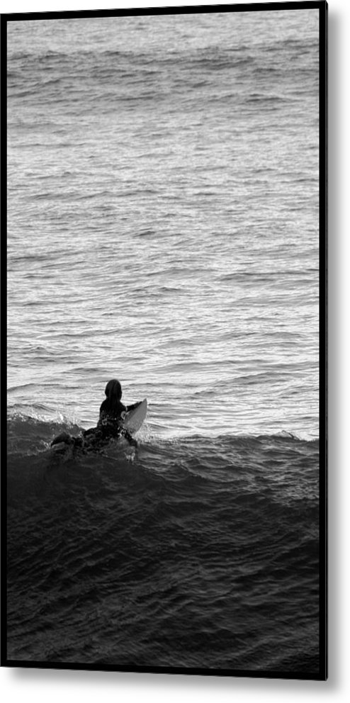 San Clemente Pier Metal Print featuring the photograph California Surfing by Brad Scott
