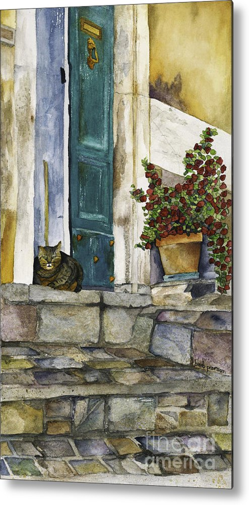 Cat Metal Print featuring the painting Di Gatto by Barb Pearson