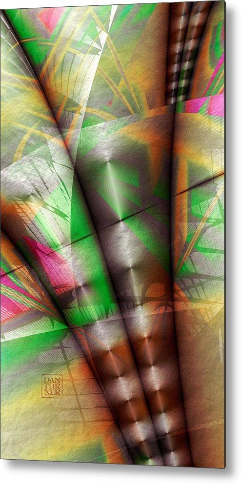 Flutes Of Osiris Metal Print featuring the digital art Flutes Of Osiris by Dan Turner