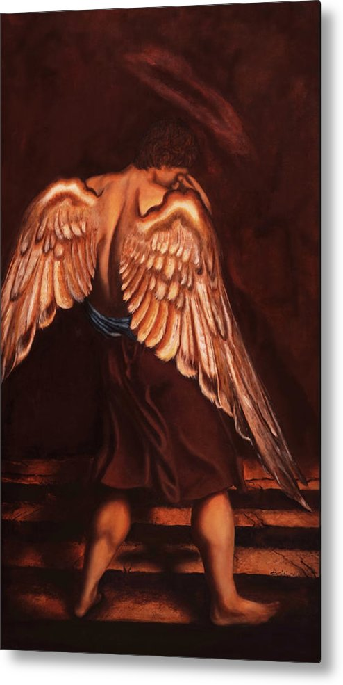 Giorgio Metal Print featuring the painting My Soul Seeks For What My Heart Lost by Giorgio Tuscani