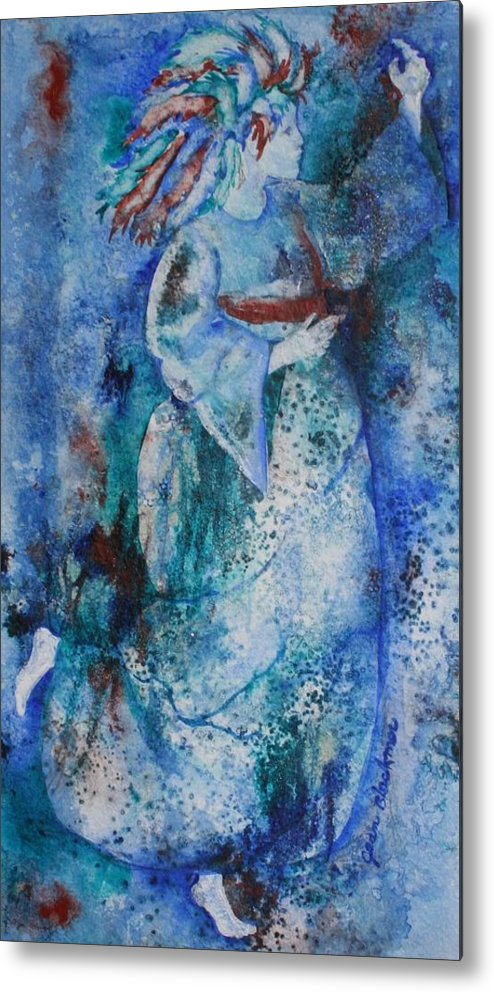 Abstract Metal Print featuring the painting Star Dancer by Jean Blackmer