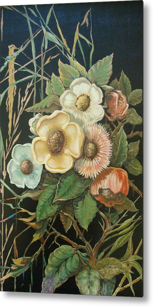 Flowers Metal Print featuring the painting Wildflowers by Ralf Glasz
