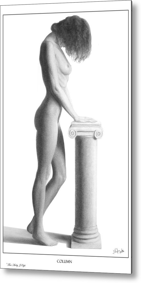 Print Metal Print featuring the drawing Column by Joseph Ogle