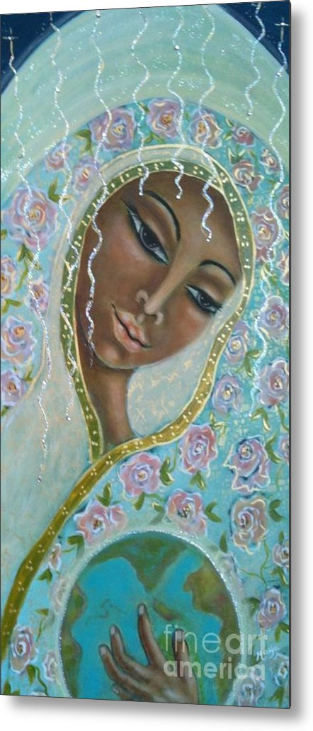 Visionary Art Metal Print featuring the painting Ma -first Sound In The Universe by Maya Telford