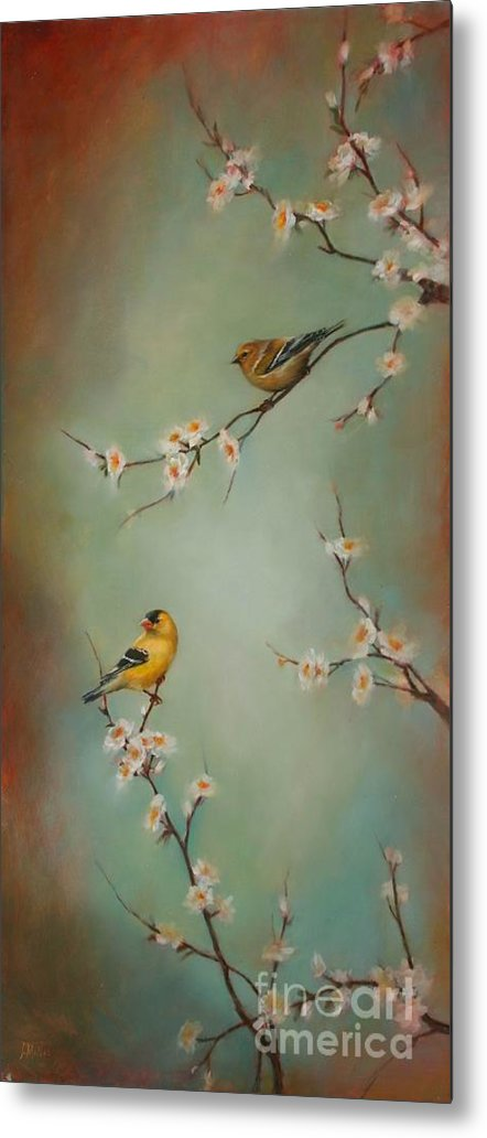 Songbird Metal Print featuring the painting Spring Dream by Lori McNee