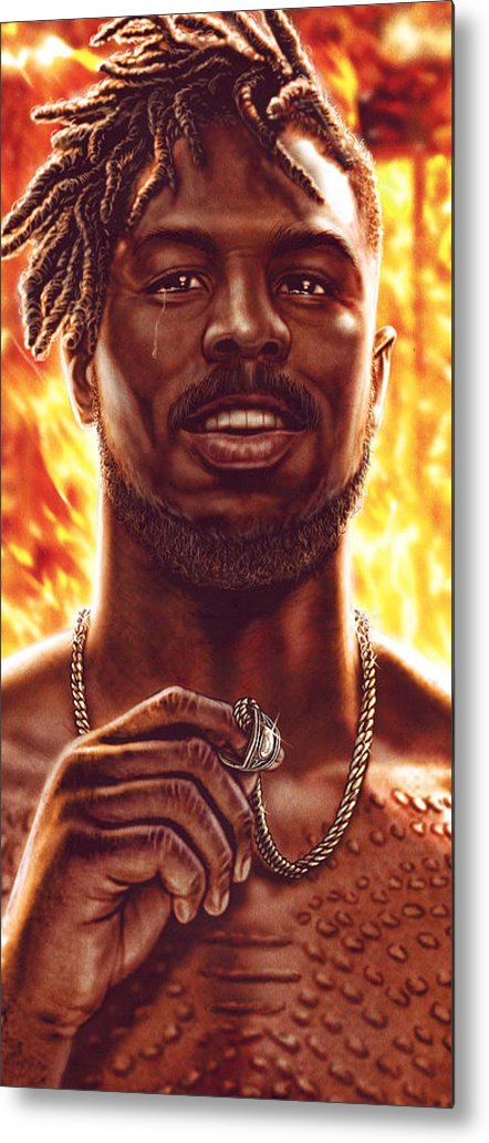 Heroes Metal Print featuring the digital art Burn It All by Canvas Cultures