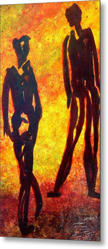 Man Metal Print featuring the painting The Dance by Marie Baehr