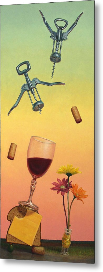 Still-life Metal Print featuring the painting Body And Soul by James W Johnson